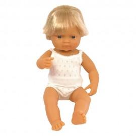 BABY DOLL CAUCASIAN BOY 38CM