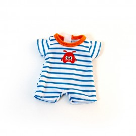 Warm weather stripes pjs for 21cm dolls