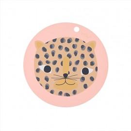"""Placemat """"Snow leopard"""" - coral"""
