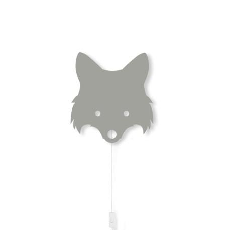 Fox Lamp - dusty green