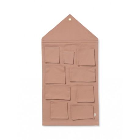 House wall storage - dusty rose