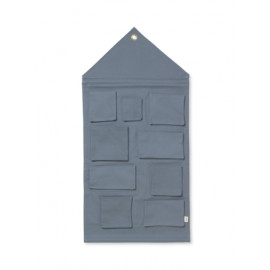 House wall storage - dusty blue