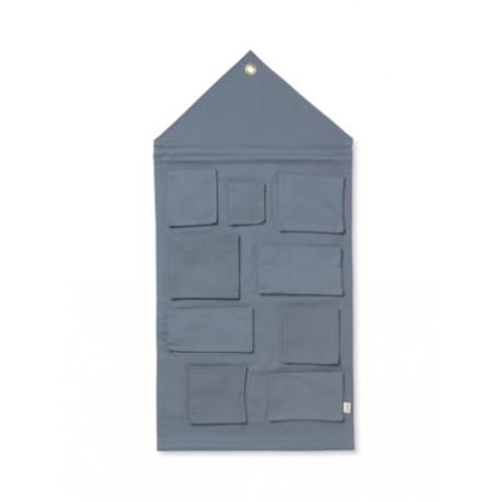 House wall storage - dusty blue