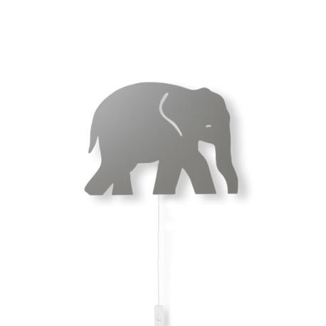 Elephant lamp - warm grey