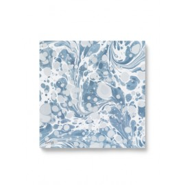Marbling paper napkins - dusty blue