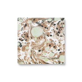 Marbling paper napkins - rust