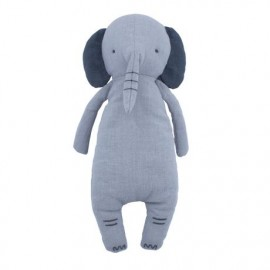 Linen stuffed toy, Finley the elephant