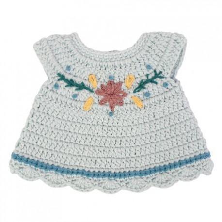 Dolls clothing - dress - mist blue