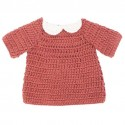 Dolls clothing - dress - clay red