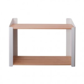Embrace shelf, double, classic white