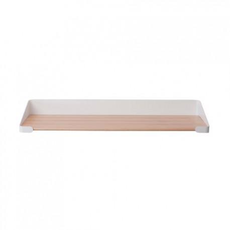 Embrace shelf, single, classic white