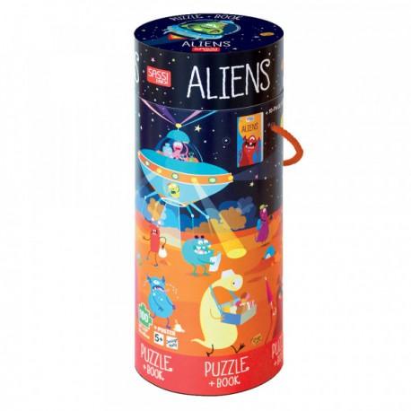 Aliens Book+Giant Puzzle