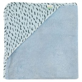 Hooded towel w. wash cloth Blue Meadow