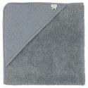 Hooded towel w. wash cloth grain blue