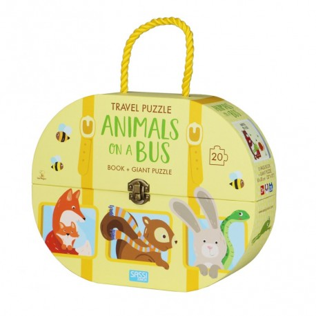 Travel Puzzle. Animals on a Bus