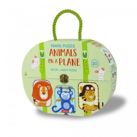 Travel Puzzle. Animals on a Plane