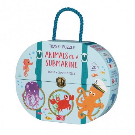 Travel Puzzle. Animals on a Submarine