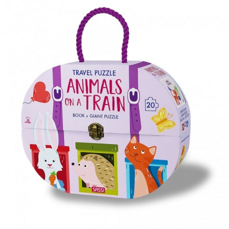 Travel Puzzle. Animals on a train