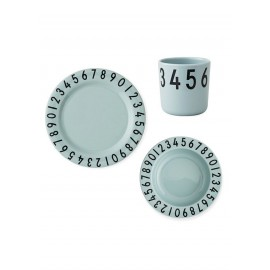 Eat and Learn dinner set - numbers mint