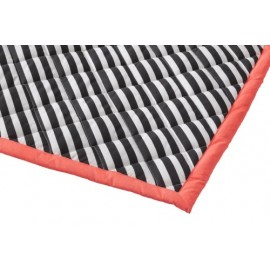 Black Striped Quilted Blanket Neon