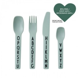 ABC kids cutlery- Tritan green