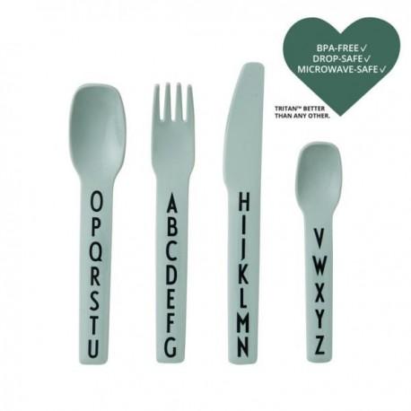 ABC kids cutlery- Tritan green