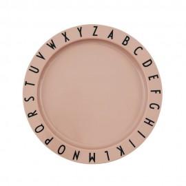 ABC plate- Tritan rose