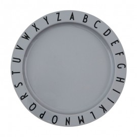 ABC plate- Tritan grey
