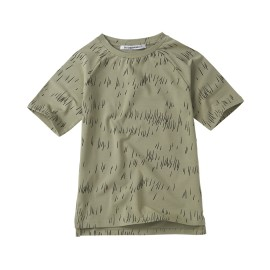 T - shirt - grass print oak