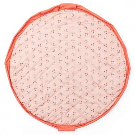 Play and go soft baby playmat and storage bag - Animal faces