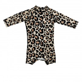 """Leopard shark"" one piece baby swimsuit"