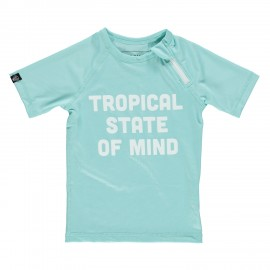 """Tropical state of mind"" UV swim tee"