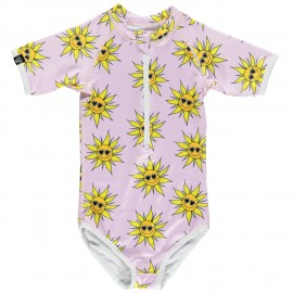 """Sunshine flower"" short sleeved swimsuit"