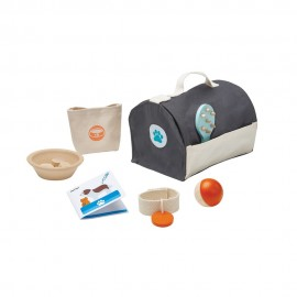 Wooden pet care set