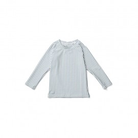 Noah swim tee - Stripe Seablue/white