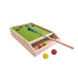 Wooden ball shoot game