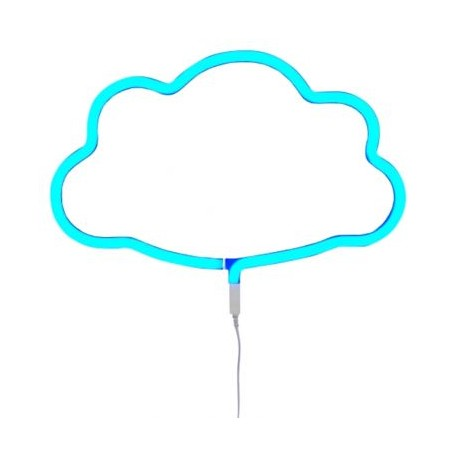 Neon style light cloud - blue