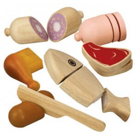 Wooden meat set