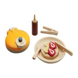 Wooden waffle set