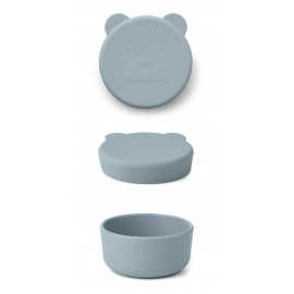 Carrie snack box - Mr bear sea blue