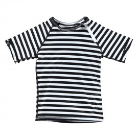 """Black and White Stripes"" UV swim tee"