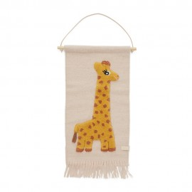 Giraffe wall hanging - rose