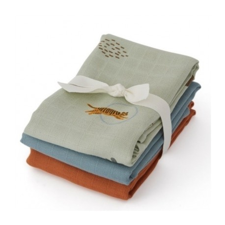Muslin Square - Tiger - 3pack