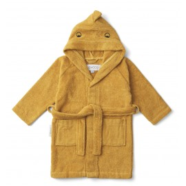 Lily bathrobe - dino yellow mellow