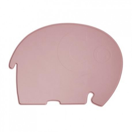 Silicone place mat, elephant, blossom pink