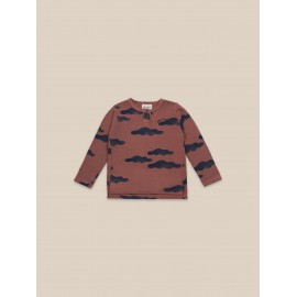 Clouds All Over Buttoned Long sleeved T-Shirt