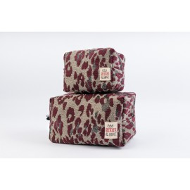 Cube Pouch Leo Bordeaux - Small