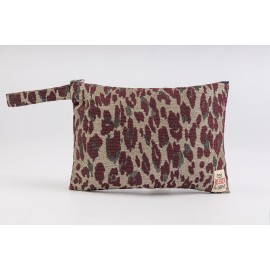 Flat Pouch Leo-Bordeaux - Small