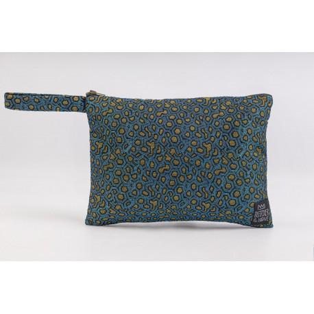 Flat Pouch Metallic Blue - Small