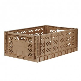 Aykasa folding crate - Maxi warm taupe